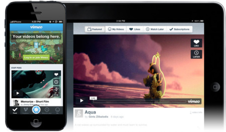 Vimeo actualiza su aplicación para iOS