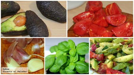 Ensalada aguacates y tomate