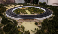 El SpaceShip del Apple Campus 2 empieza a levantar su estructura