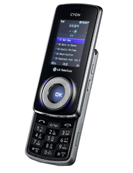 LG LB3300, móvil musical desde Corea