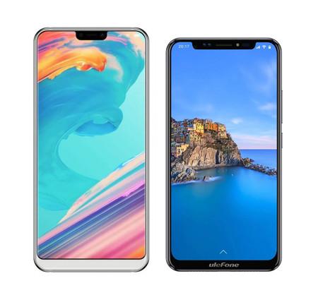 Ulefone T2 Pro y Ulefone X: nuevo gama media chino con chip MediaTek Helio 70 y pantalla a lo iPhone X