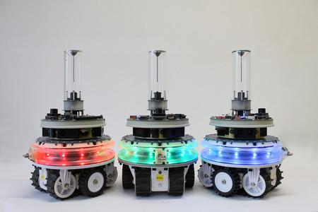 Estos robots pueden unirse para formar otros más grandes o separase