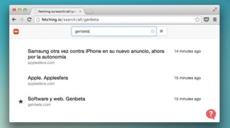 Fetching.io, indexa toda tu actividad red para facilitar las búsquedas