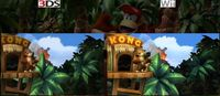 Comparativa en vídeo entre el 'Donkey Kong Country Returns' de Wii y el de 3DS