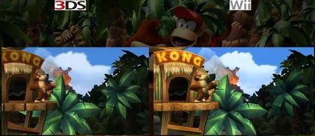 Comparativa en vídeo entre el 'Donkey Kong Country Returns' de Wii y el de 3DS