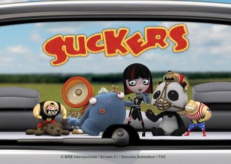 LLega a Clan el divertido humor de los Suckers, unos pequeños juguetes que viajan en la parte de atrás de los coches
