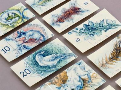 Además de hermosos, ¿qué dirías que tienen de peculiar estos billetes ficticios de euro?