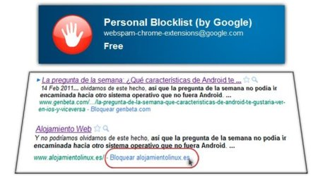 Personal Blocklist: personalizando, y ayudando, las búsquedas de Google