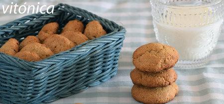 Galletas de jengibre fitness: receta saludable fácil sin azúcar