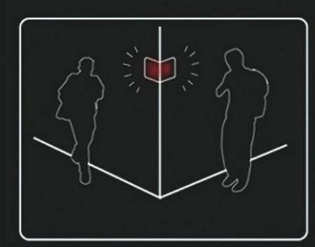Corner's Communication Warning Sign