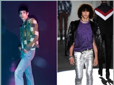 La moda masculina recibe una dosis extra de Glam para la primavera 2017