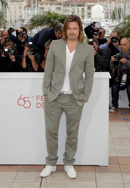 Los looks de Brad Pitt en el Festival de Cannes 2012: ¿informal o de etiqueta?