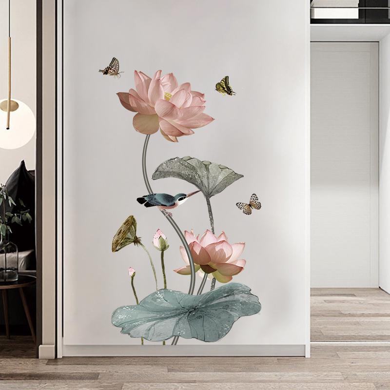 Vinilo decorativo de flores (55cm x 95 cm)