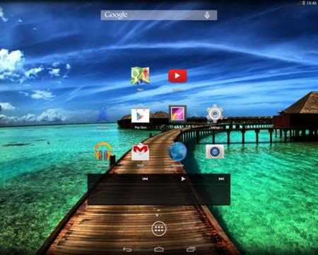 Android-x86, pantalla de inicio