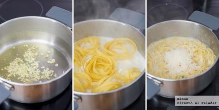 Fettuccini Ajo y parmesano