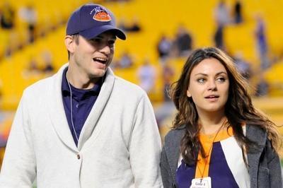 Ashton Kutcher y Mila Kunis presentan a su hija ¡con acertijo!