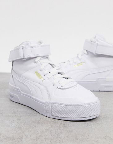Zapatillas hi-top en blanco triple Cali Sport de Puma