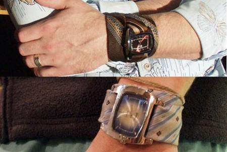 Relojes hechos con corbatas