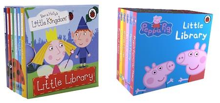 Dos sets de minilibros de Peppa Pig y Ben & Holly tirados de precio en Amazon (menos de 5 euros)