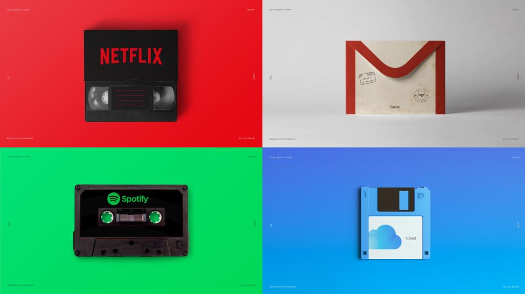 Del cassette y las cartas a Spotify, Netflix o Gmail: esta artista retrata el relevo generacional de manera brillante