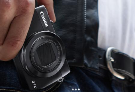 Canon G7 X en mano