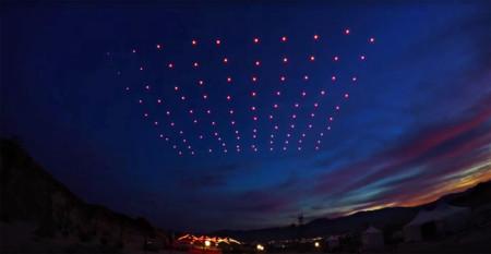 Así es como 100 drones iluminados han creado la coreografía aérea más impresionante del mundo