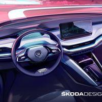 """Škoda Enyaq iV: el primer SUV eléctrico de Škoda descubre su interior, con pantalla de 13"""" y materiales reciclados"""