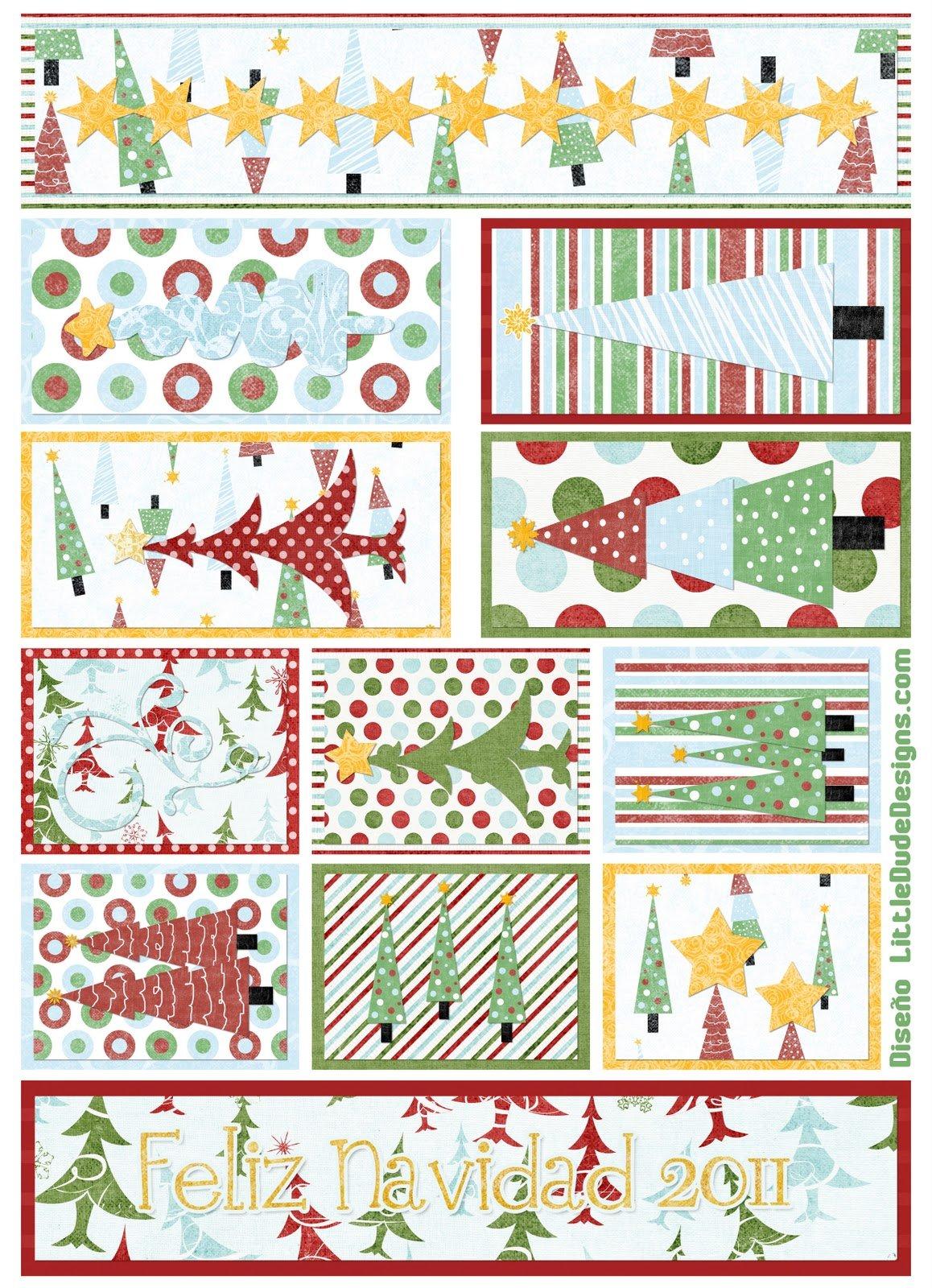 Tarjetas etiquetas y pegatinas de navidad para imprimir for In regalo gratis