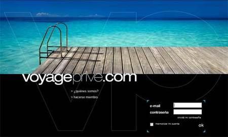 Voyage Privé, un club privado de viajes poco funcional