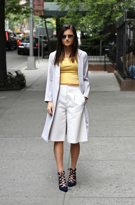 Crop top + culotte, la ecuación perfecta