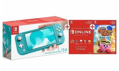 Disfrutar de la Nintendo Switch Lite con Super Kirby Clash, más barato gracias al cupón PDESCUENTO5 de eBay: sólo 208,95 euros