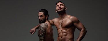 Estas son las fotos de Cristian Suescun completamente desnudo junto a Rafael Amargo (a sus pies) para OnlyFans