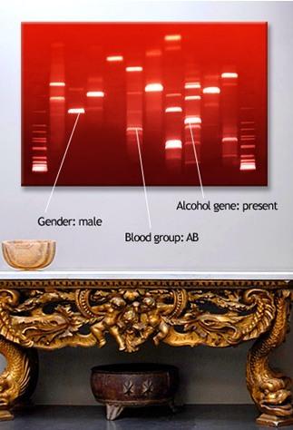 Tu ADN colgado en la pared