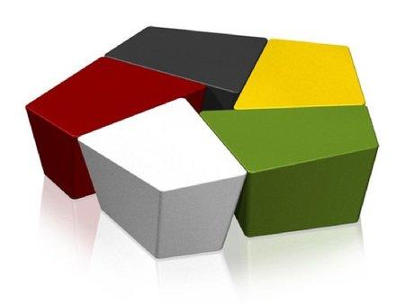 Banco CH, modular y multicolor de Itoki