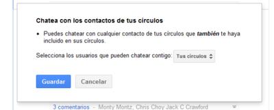 Ya puedes chatear con los usuarios de Google+ que sigas y que te tengan en círculos