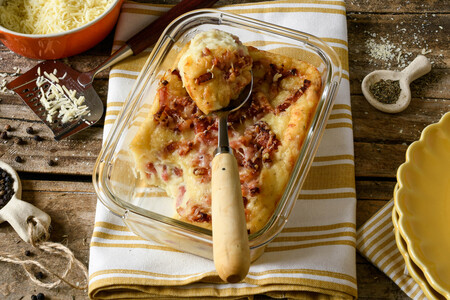 Pastel de patata y bacon: la receta para el niño que todos llevamos dentro
