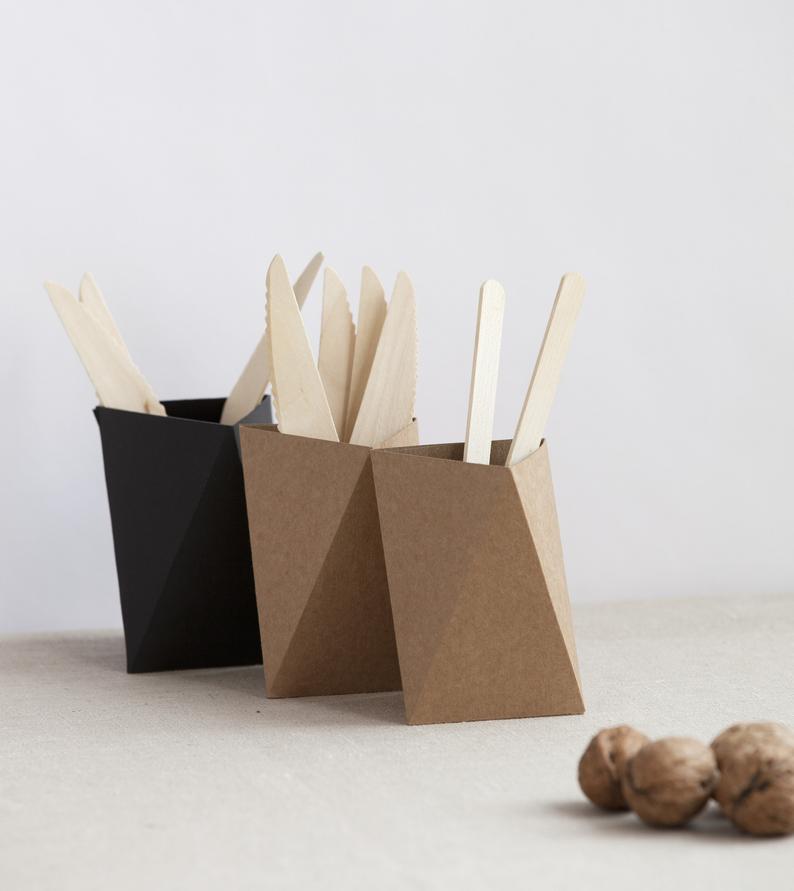 Pack de 3 lapiceros en forma geométrica