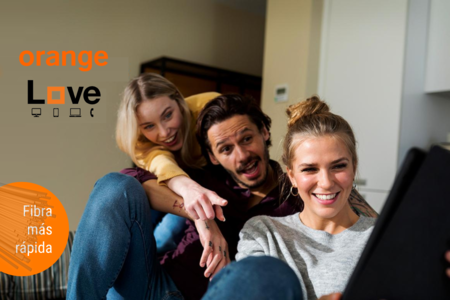 Orange aumenta la velocidad mínima de fibra a 300 Mbps en sus Love Original