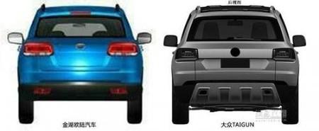Jiangsu Lake SUV vs Volkswagen Taigun, vista posterior