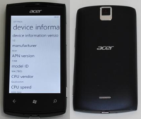 Acer Allegro un Windows Phone asequible para diciembre
