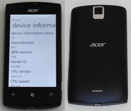 Acer Allegro un Windows Phone asequible para diciembre