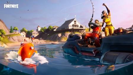 Desafío Fortnite: atrapa un objeto con una caña de pescar en distintas ubicaciones con carteles de No pescar