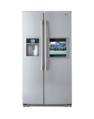 LG Panorama, frigorífico con pantalla HD