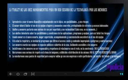 Decálogo de la Policía Nacional de España para los peques que utilizan tabletas y teléfonos móviles