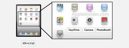 iOS 4.3 beta 2 FaceTime Photo Booth Cámara iPad