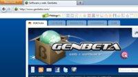 Versión de Firefox con las pestañas en la barra de título