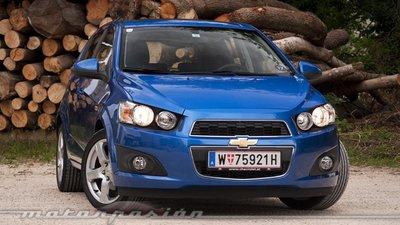 Chevrolet Aveo, presentación y prueba en Zurich