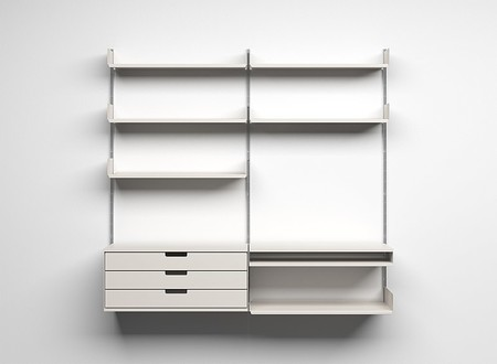 606 Universal Shelving System, diseñada por Rams para Vitsoe.
