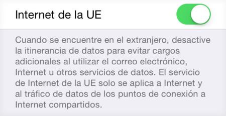 Nueva opción para la itinerancia de datos en Europa en la beta 4 de iOS 8