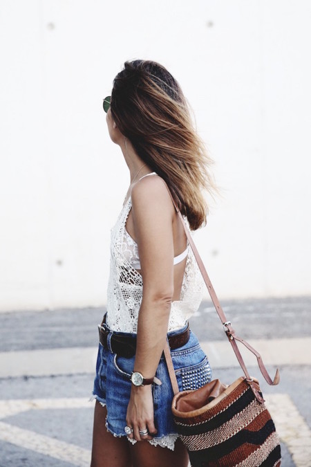 Mulafest Lace Top Levis Vintage Maje Sandals Urban Outfitters Bag Outfiit Summer 10 790x1185